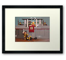 No Thumbs!? Framed Print
