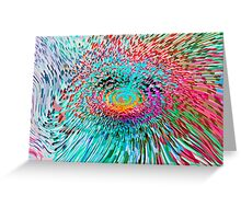Spinning Abstract Greeting Card