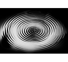 Monochrome Ripples Photographic Print