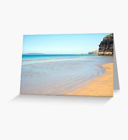 blue skies and sea at ballybunion Greeting Card