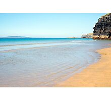 blue skies and sea at ballybunion Photographic Print