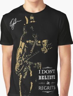 Musician golden poster on black background Graphic T-Shirt