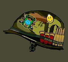 Watchmen - Viet Nam Helmet by btnkdrms