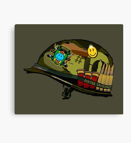 Watchmen - Viet Nam Helmet Canvas Print