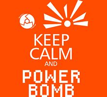 Keep Calm and Power Bomb - Dark Colours Unisex T-Shirt