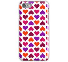 Berry Candy Hearts (White) iPhone Case/Skin