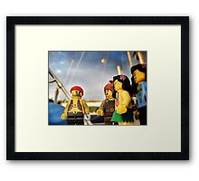 Pirate Practice: Flirting with the Ladies Framed Print
