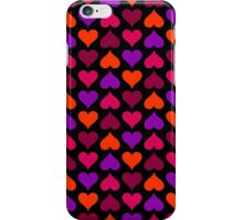 Berry Candy Hearts (Black) iPhone Case/Skin