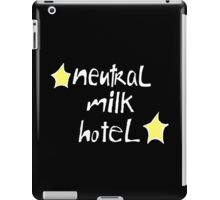 Neutral Milk Hotel (Everything Is) - White on Black Version iPad Case/Skin