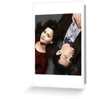 Dr Who and Clara Oswin Oswald Greeting Card