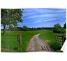 Oxfordshire countryside Poster