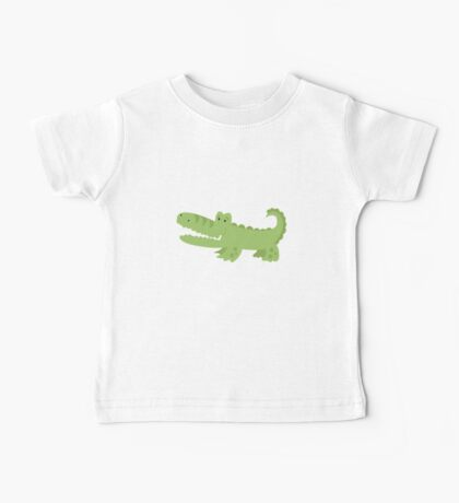 Cute Green Alligator Baby Tee