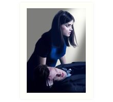 Dr Who and Clara Oswin Oswald Art Print