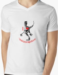 I love Velociraptors Mens V-Neck T-Shirt