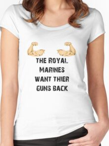 The Royal Marines Women's Fitted Scoop T-Shirt