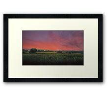 Sunset HDR Landscape Framed Print
