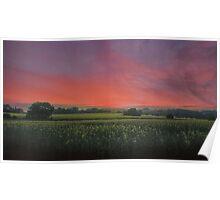 Sunset HDR Landscape Poster