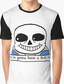 Undertale - Sans, Bad Time Graphic T-Shirt