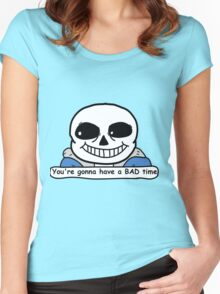 Undertale - Sans, Bad Time Women's Fitted Scoop T-Shirt