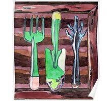Garden Tools Portrait Poster