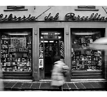 Book Shop  - Florence - Italy Photographic Print