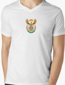 Coat of Arms of South Africa  Mens V-Neck T-Shirt