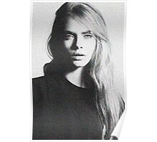 cara black and white Poster