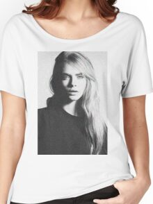 cara black and white Women's Relaxed Fit T-Shirt