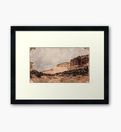 Antique Desert Framed Print