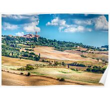 Autumn In Pienza Poster