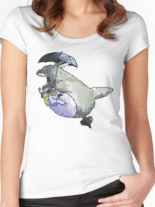 Totoro-Watercolor Women's Fitted Scoop T-Shirt