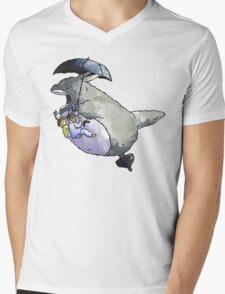 Totoro-Watercolor Mens V-Neck T-Shirt