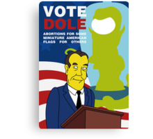 Vote Dole Canvas Print