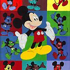 Mickey Mouse Abstract Art by Oldetimemercan