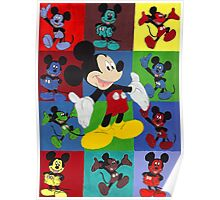 Mickey Mouse Abstract Art Poster