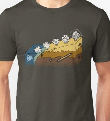 The Evolution of Dice Unisex T-Shirt