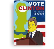 Vote Clinton Canvas Print