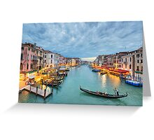 Clouds over the Grand Canal, Venice Greeting Card
