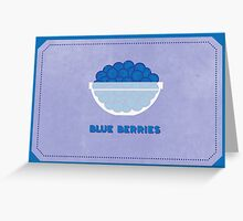 Blueberries (Color Palate) Greeting Card