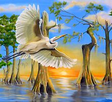 Great Egret by Phyllis Beiser