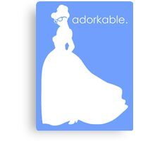Adorkable Girl Canvas Print