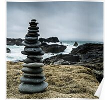 Pebble Cairn Poster