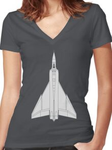 Avro CF-105 Arrow Women's Fitted V-Neck T-Shirt