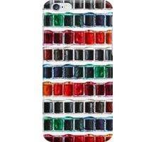 Multicolor fun watercolor paint artist pallet iPhone Case/Skin