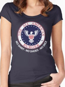 All American Burger (No Shirt-No Shoes-No dice) Women's Fitted Scoop T-Shirt