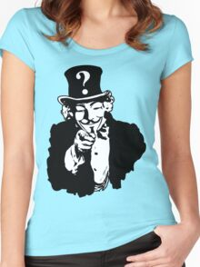 Anonymous Needs You Women's Fitted Scoop T-Shirt