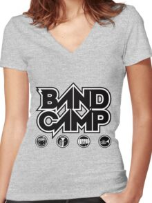 Band Camp Women's Fitted V-Neck T-Shirt