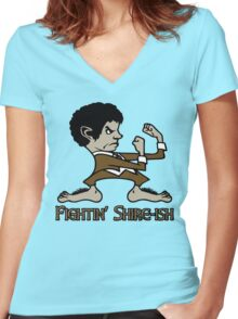Fighting Shire-ish Women's Fitted V-Neck T-Shirt