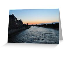 Dusk over the Seine Greeting Card