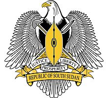 Coat of Arms of South Sudan Photographic Print